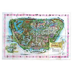 Disneyland souvenir map.