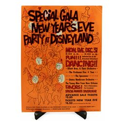 Disneyland new years eve ticket booth poster.