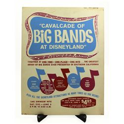 Cavalcade of Big Bands advance sale ticket booth poster.