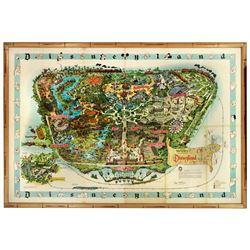 Sam McKim signed 1962 souvenir map.