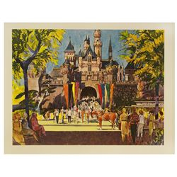 Disneyland united Airlines promotional lithograph.
