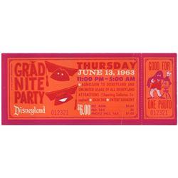 Grad Night  admission ticket.