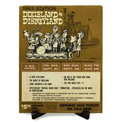 Dixieland at Disneyland  advance sale ticket booth poster.