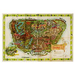 Sam McKim signed 1964 souvenir map.