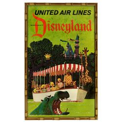 United Airlines  Disneyland travel poster.