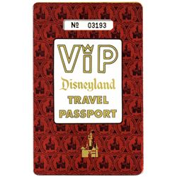 Rare children's VIP passport ticket book.