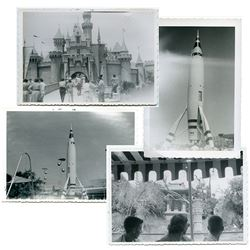 Collection of (18) early 1955/56 amateur photos at Disneyland.