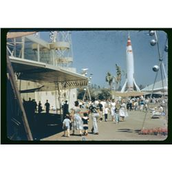 Collection of (76) professional color slides from Disneyland circa 1955-1956 .