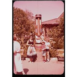 Collection of (65) color amateur slides of Disneyland circa 1957.