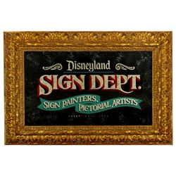 Disneyland Sign & Pictorial Department glass chip mirror sign.