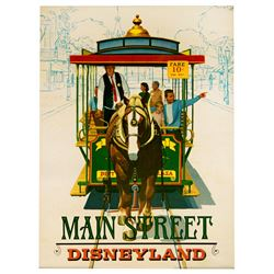 """Main Street, USA  """"Near-Attraction"""""""" poster from the Main Street Emporium."""