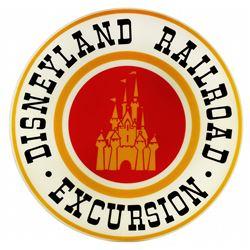 Disneyland Railroad drum sign.