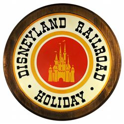 Disneyland Railroad drum sign.