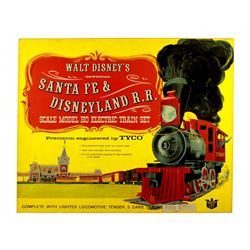 Tyco Santa Fe & Disneyland Railroad boxed electric train set.