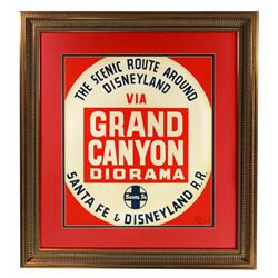 Original Grand Canyon Diorama  attraction lamppost shield.