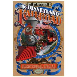 Original Disneyland Railroad bicentennial special edition attraction poster.
