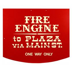 Main Street Fire Engine hanging sign.
