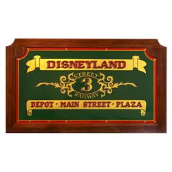 Main Street Horse Drawn Trolley No. 3 original rear panel sign.