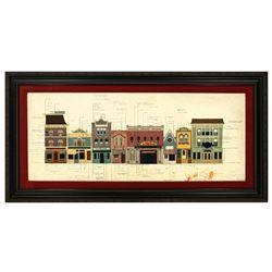 Original Main Street color elevation.