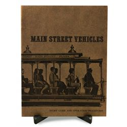 Main Street Vehicles cast member standard operating procedures manual.