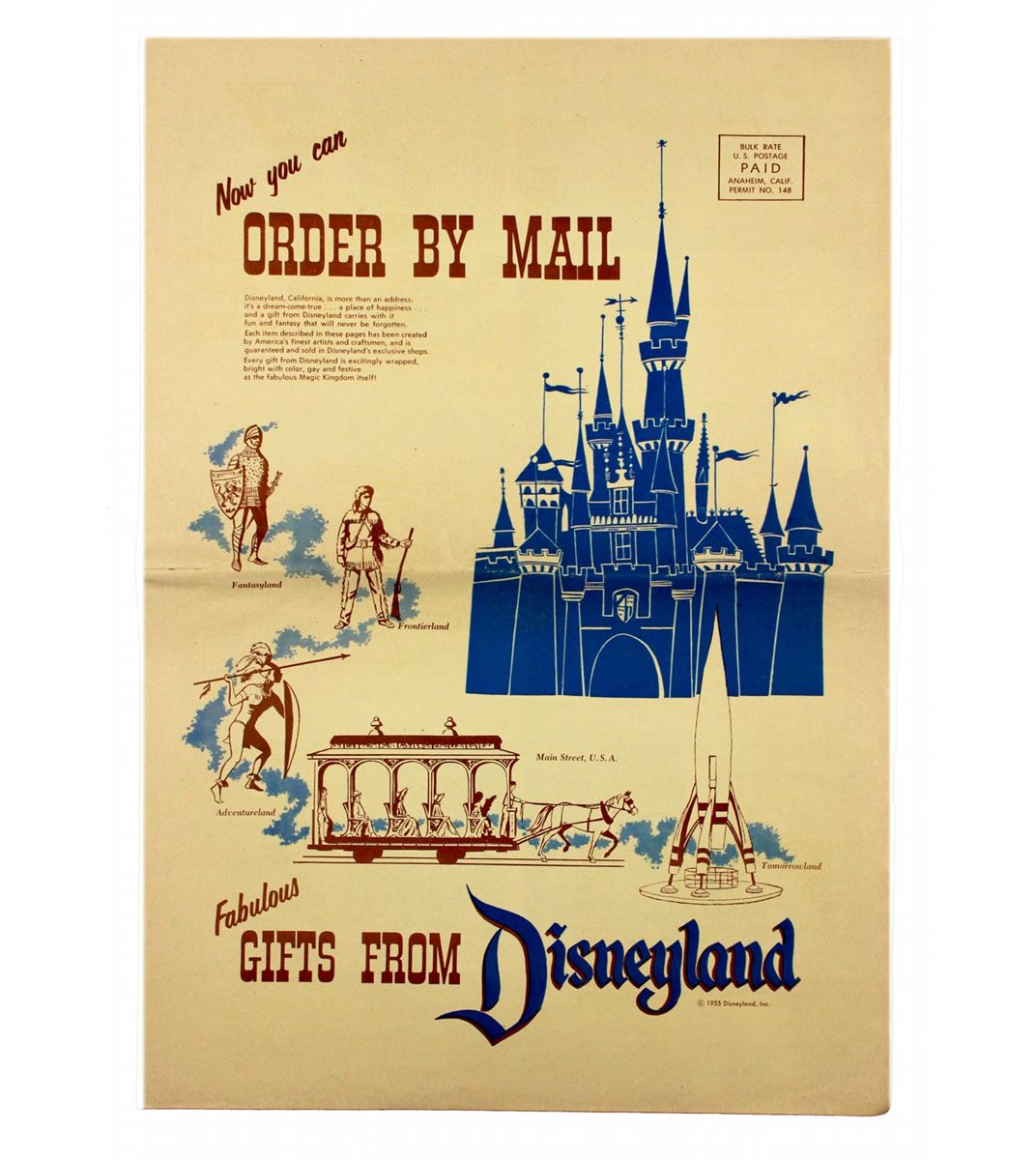 Image 1 : Fabulous Gifts From Disneyland Mail order catalog.
