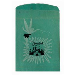"Early (2) Disneyland shopping bags featuring ""Tinkerbell""."