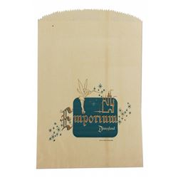 """Early (2) Disneyland Emporium shopping bags featuring """"Tinkerbell""""."""