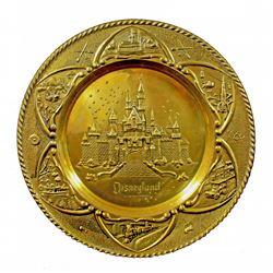 Disneyland brass embossed souvenir wall platter.