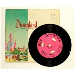 Disneyland souvenir record featuring Donald Duck.