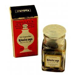 Upjohn Drugstore  complimentary vitamins in box.