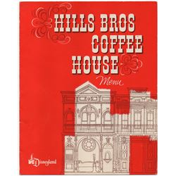 Hills Bros. Coffee House Menu.