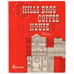 Hills Bros. Coffee House Menu.