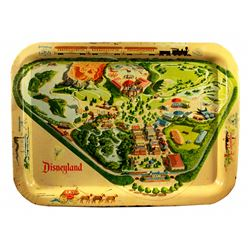 Disneyland map tin-litho TV tray.