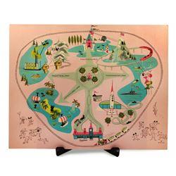Disneyland map pop-up placemat.