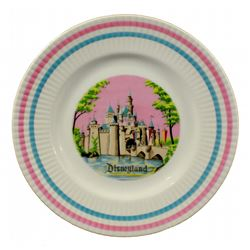 Disneyland souvenir decorative plate.