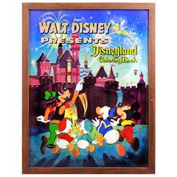 Original artwork for Walt Disney Presents Disneyland coloring book.