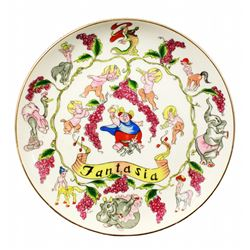 Disneyland Fantasia decorative plate.