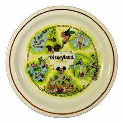 Disneyland map decorative plate.
