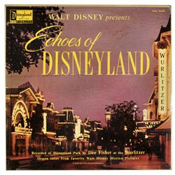 Dee Fisher signed Echoes of Disneyland organ music lp.