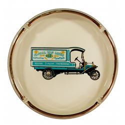 Global Van Lines Main Street promotional ashtray oversize.