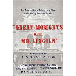 Original Great Moments With Mr. Lincoln attraction poster.