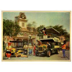 Main Street lenticular postcard.