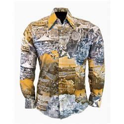 Photo collage disco shirt.