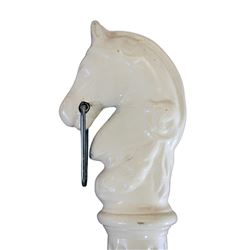 Main Street horse head hitching post.
