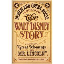 Original The Walt Disney Story attraction poster.