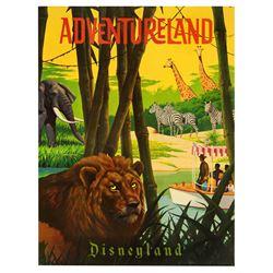 "Adventureland ""Near-Attraction"""" poster from the Main Street Emporium."