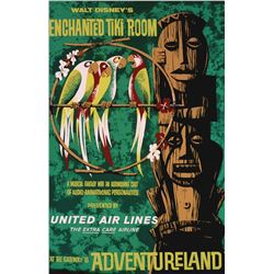 Original Enchanted tiki Room attraction poster.