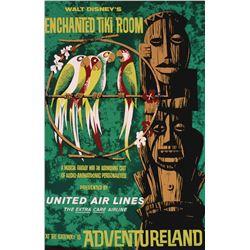 Original Enchanted tiki Room attraction poster.