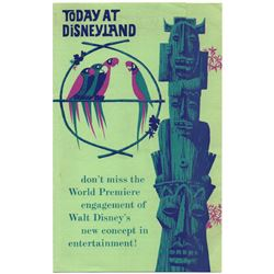 Tiki Room World Premiere opening day gate flyer.