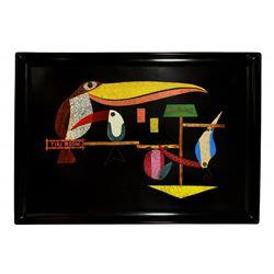 "Enchanted Tiki Room ""Couroc oF Monterey"" souvenir decorator tray."